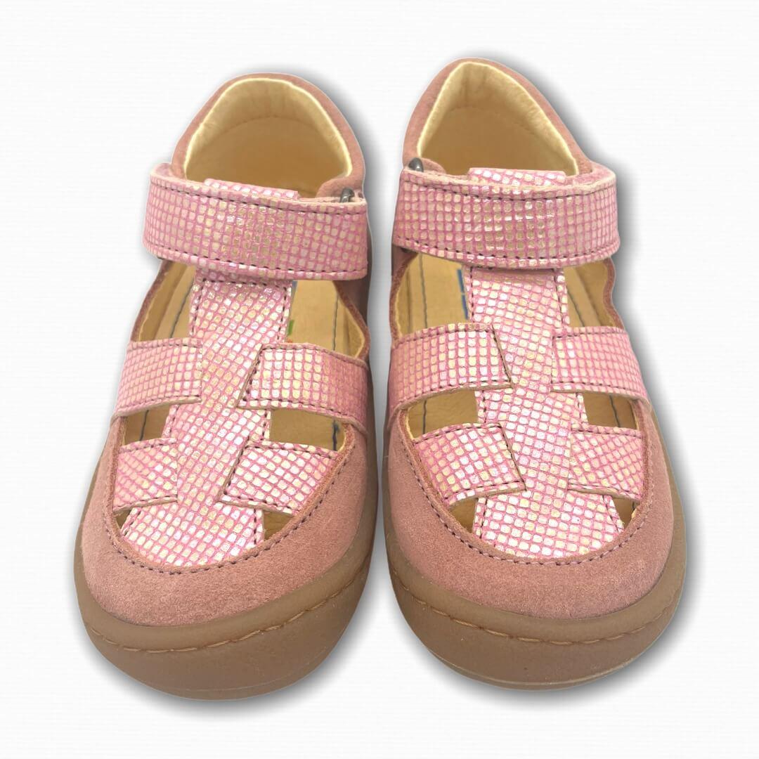 Koel Bare Sandalen Bio rosa glitzernd
